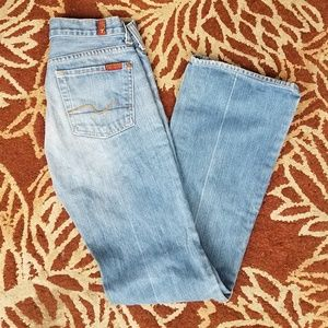 7 for all mankind denim bootcut jeans size 25 EUC